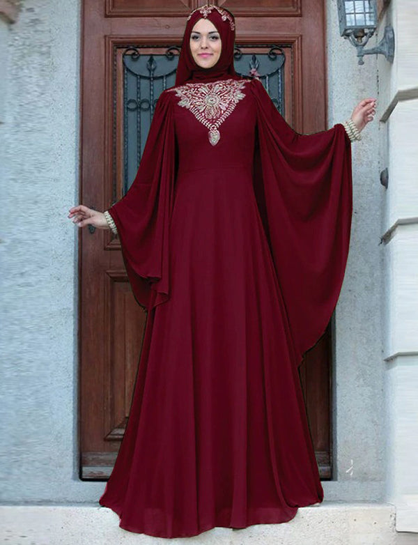 Beaded Dubai Kaftans Long Dress