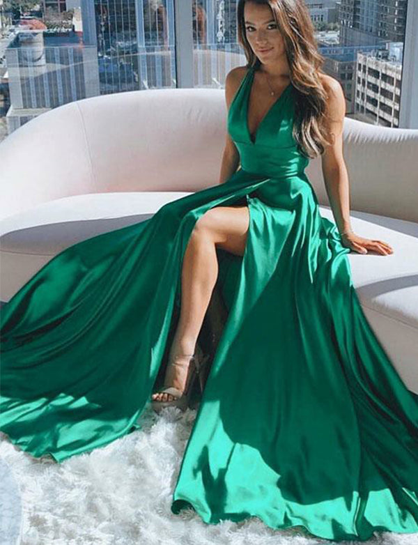 Green Prom Dresses Long