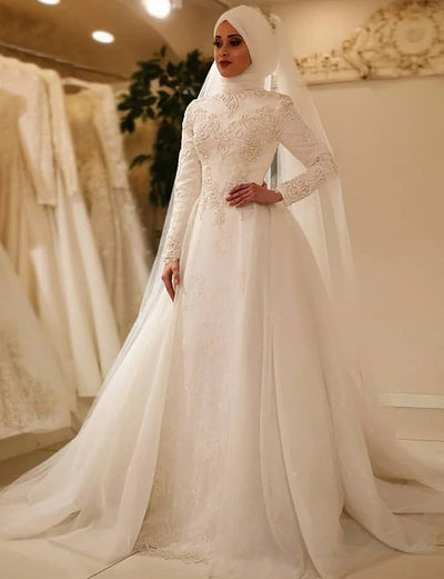 Wedding Kaftans Elegant Dress With Appliques Lace