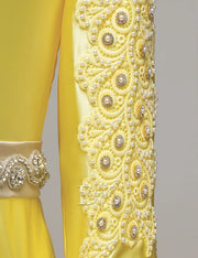Yellow Moroccan Caftan Evening Dresses