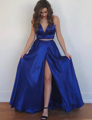 Two Piece Prom Dresses Long
