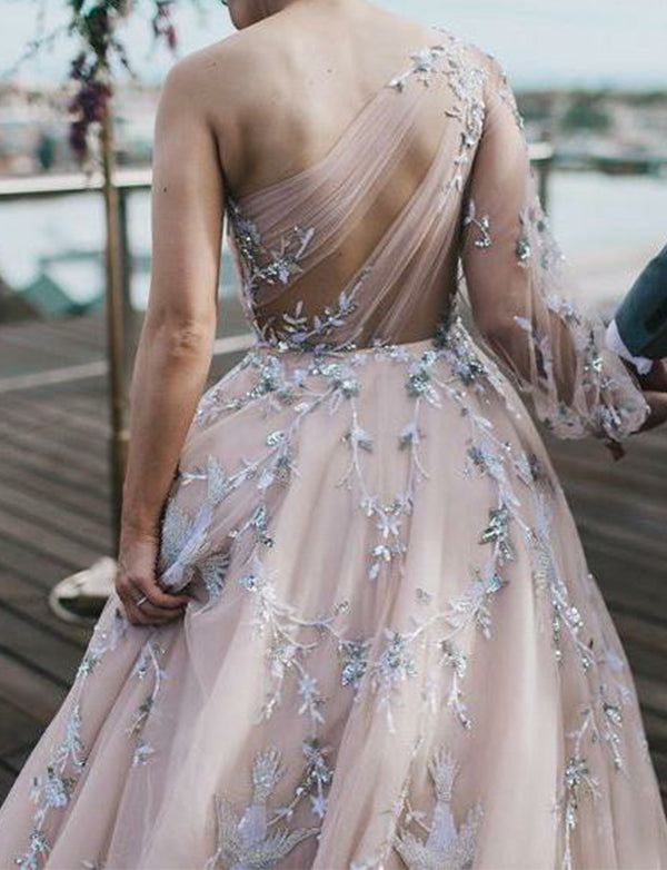 Champagne Evening Dresses Long