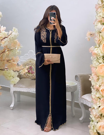 Modern DUbai Kaftans With Embroidery