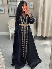 Moroccan Caftan Evening Black Dresses