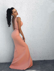 Pink Party Dresses Long