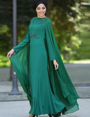 Green Dubai Kaftans Simple Style With Beading