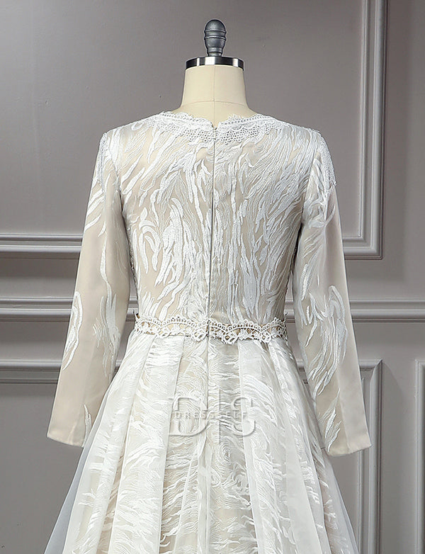 Lace White Wedding Caftan Dresses