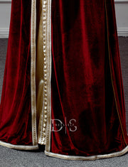 Moroccan Caftan Burgundy Evening Kaftan