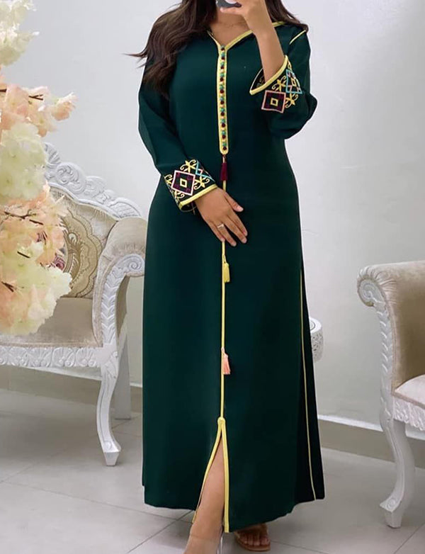 Stylish Dubai Kaftans With Embroidery