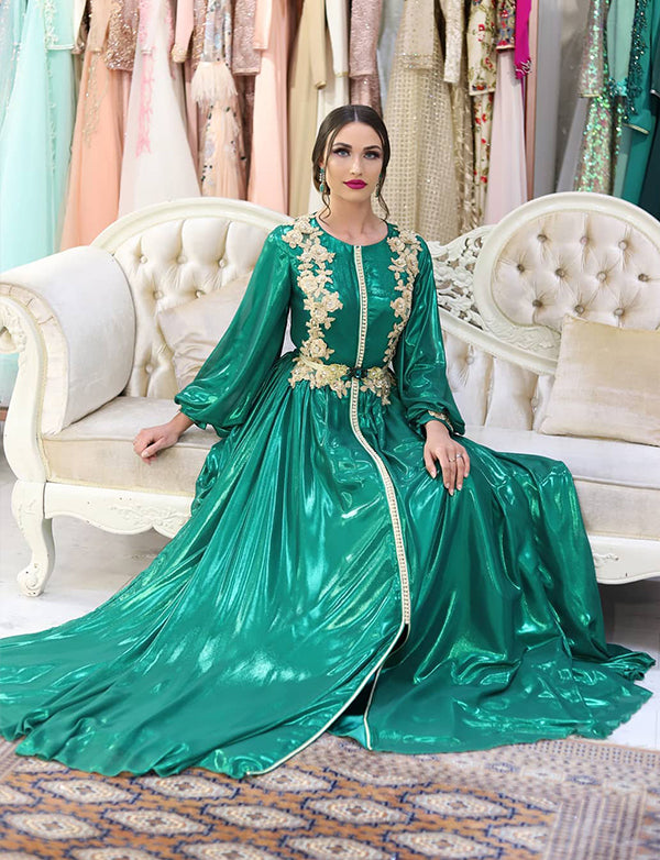 Green Morocan Kaftan Wedding Caftans