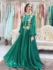 Green Morocan Kaftan Wedding Caftan