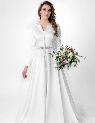 Wedding Caftan White Dress
