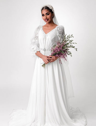 White Wedding Caftan