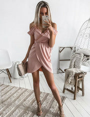 Charming A Line Spaghetti Straps Pink Short Homecoming Cocktail Dress With Lace