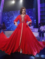 Red Dubai Caftan Dress