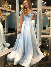 Blue Prom Dresses Long