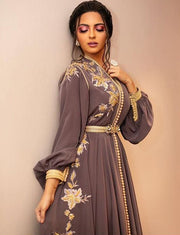 Embroidery Evening Kaftan Moroccan Dress