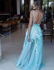 Blue Evening Dresses Long