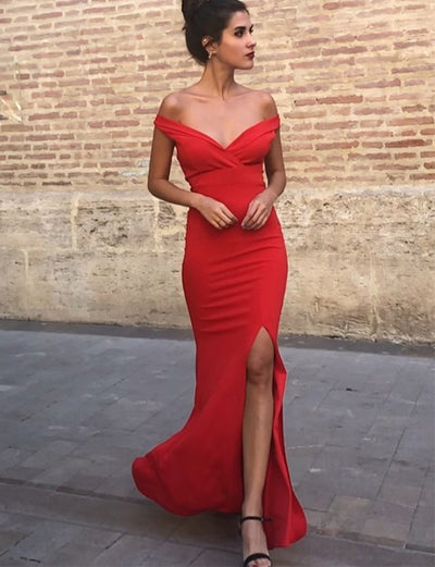 Red Prom Dresses Long