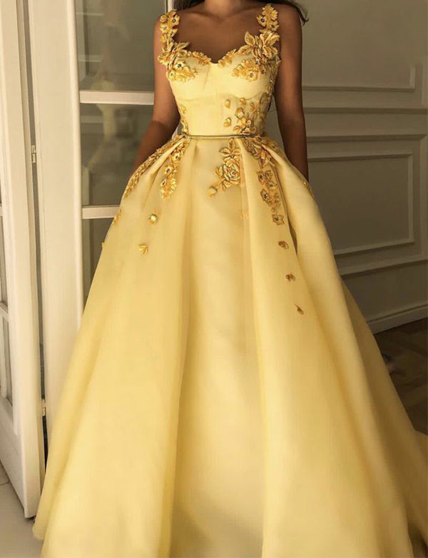 Yellow Evening Dresses Long