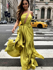 Yellow Prom Dresses Long