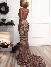 Sequins Prom Dresses Long