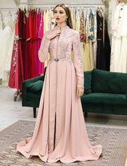 Pink Wedding Kaftans Elegant Dress