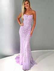 Lavender Prom Dresses Long