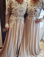 Moroccan Caftan Evening Kaftans With Appliques Lace