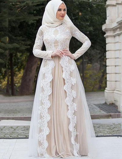 Free Shipping-Wedding Kaftan With Appliques Lace