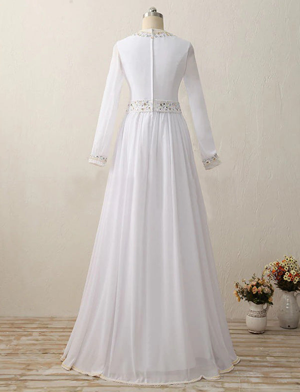 Wedding Kaftans Elegant Dress With Beaded