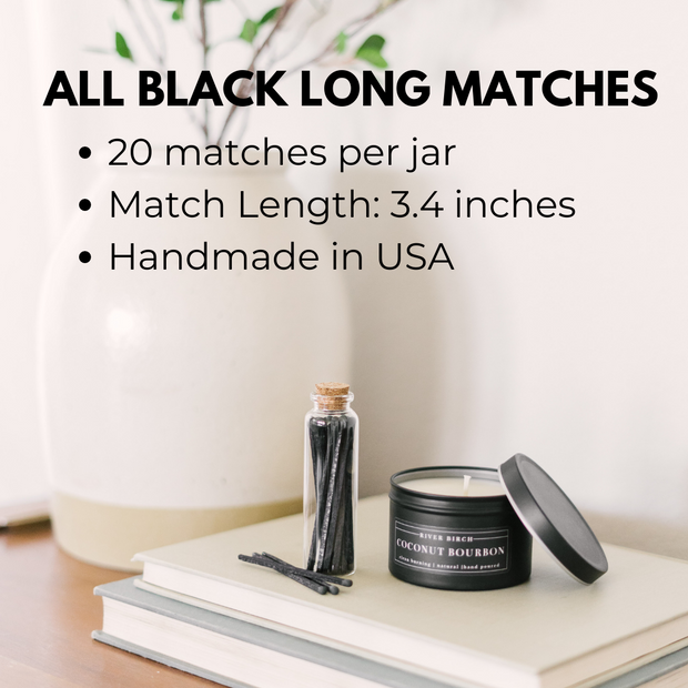 3.4in Long All Black Matches 1