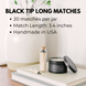 3.4in Long Black Tips Matches 1