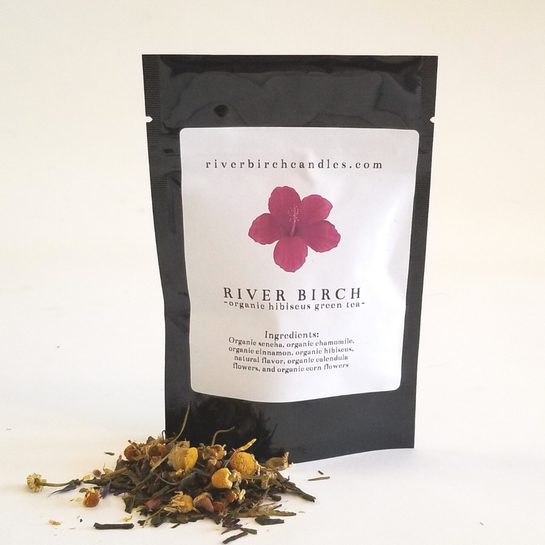 Organic Hibiscus Cinnamon Green Tea
