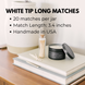 3.4in White Tip Black Matches 1