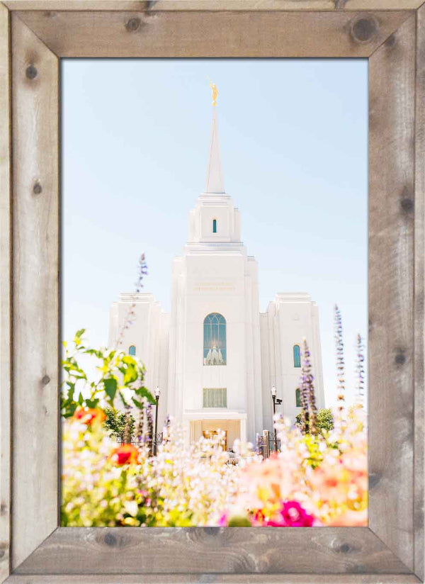Brigham City Temple Colorful