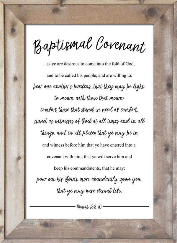 Baptismal Covenant - Mosiah 18:8-10