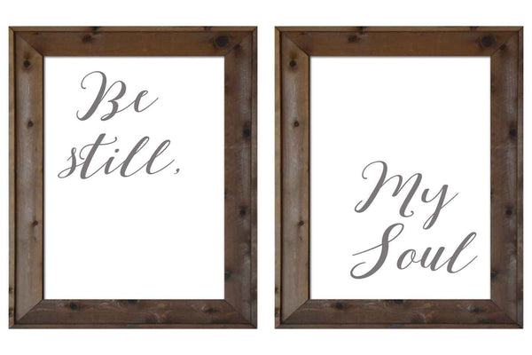 Be Still My Soul - 2 Sign Collection