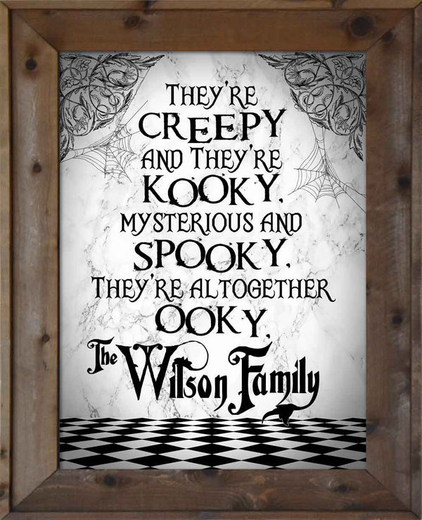 The Adams Family Theme (Customize w/Family Name)