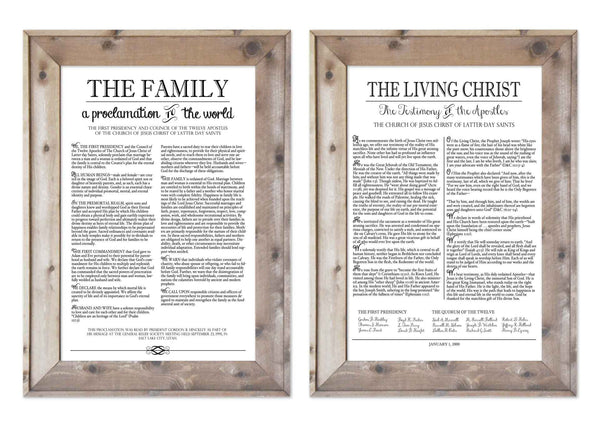 Conference Sale Family Proclamation and Living Christ Combination