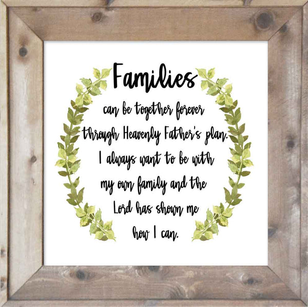 Families Can Be Together Forever - Wreath