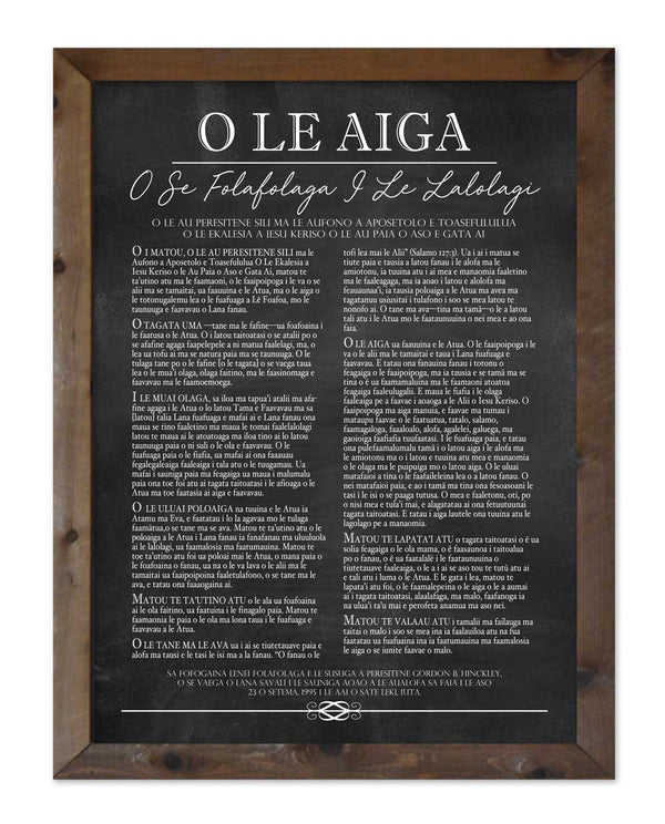 Family Proclamation - Samoan Language