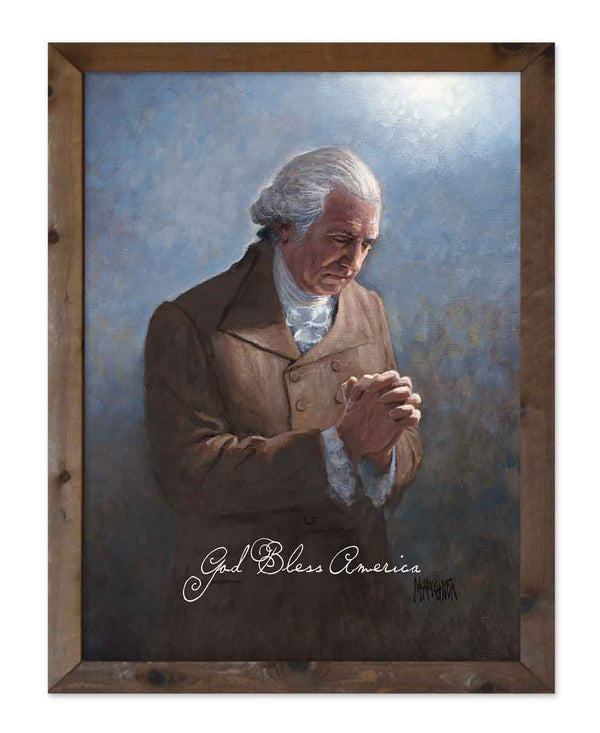 God Bless America - Washington's Prayer by Jon McNaughton