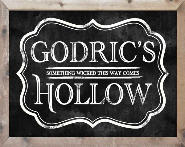 Harry Potter Inspired Halloween Sign
