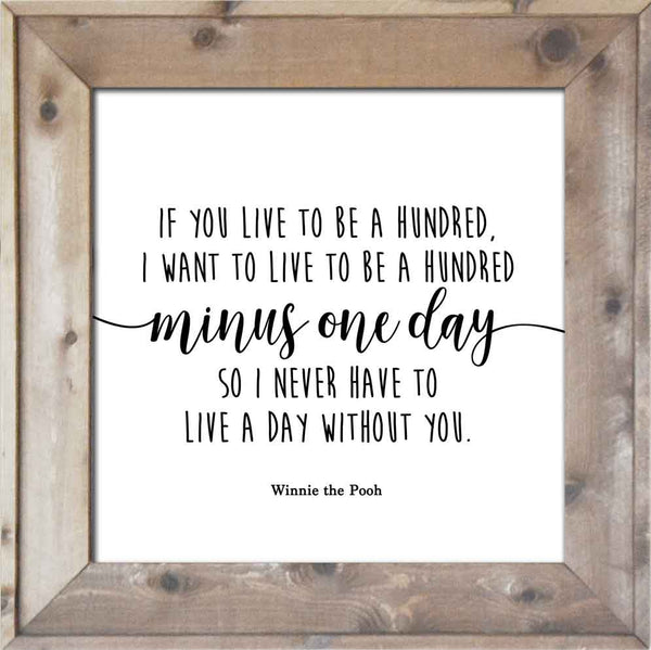 A Hundred Minus One Day - Winnie the Pooh