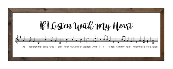 If I Listen With My Heart - Music