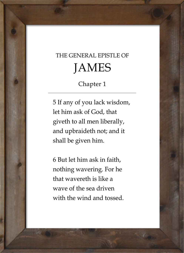 Ask of God - James 1:5-6