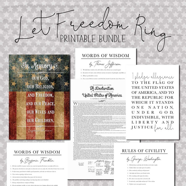 Let Freedom Ring Printable Bundle