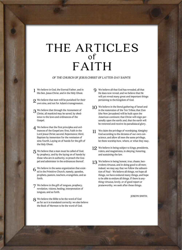 Articles of Faith - Modern Print