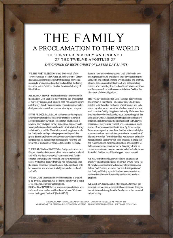 Family Proclamation - Modern Print